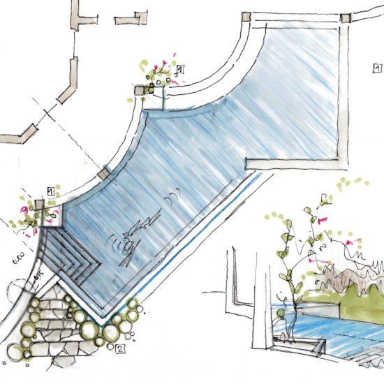 Ristrutturazione villa            realizzazione nuova piscina, Villasimius (CA)